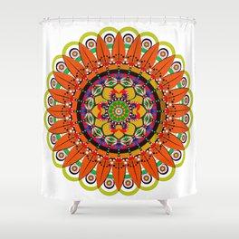 Mandala Sunflower Shower Curtain