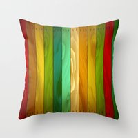 wooden Throw Pillows featuring Wooden  by Robin Curtiss