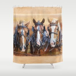 Working for the Man Shower Curtain