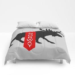 Norway Moose Banner Comforters