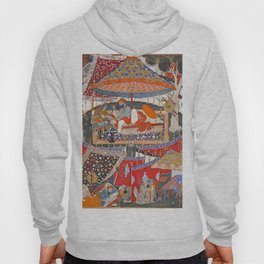 16th Century India Watercolor Painting Hoody