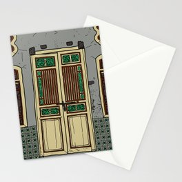 Old Penang Door #5 Stationery Cards