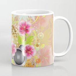 Golden disco ball with pink hibiscus Coffee Mug