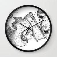 dessert Wall Clocks featuring Dessert by Bryan Michael Hartnett