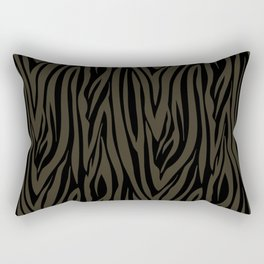 Sophisticated Black and Grey Zebra Print Pattern Rectangular Pillow