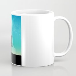Disc Golf Basket Silhouette Coffee Mug