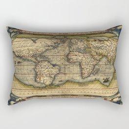 Ortelius World Map by Abraham Ortelius 1570 Typvs Orbis Terrarvm Rectangular Pillow