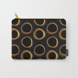 Solar Eclipse MCM Gold-Black Carry-All Pouch