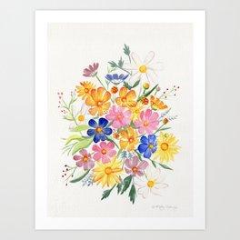 Loose Autumn Bouquet Art Print