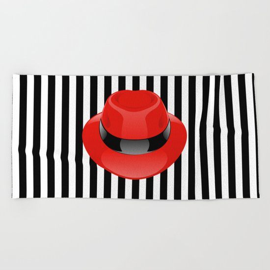 Red Hat Beach Towel