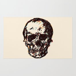 Retro Color Skull Rug