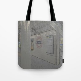 Temple station London 5 Tote Bag