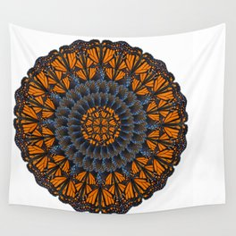 Monarch Butterfly Mandala Wall Tapestry