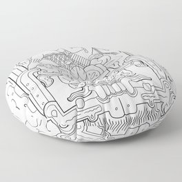 Mayan King Rising Floor Pillow