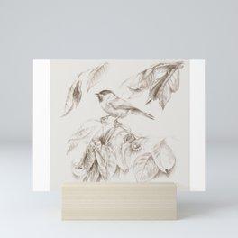 Small bird Tit Mini Art Print