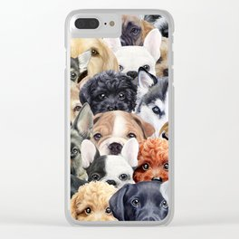 Dog All start, Dog illustration original painting print Clear iPhone Case