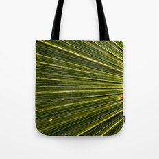 Green Palm Poetry Tote Bag