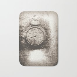 Old photo of the alarm clock Bath Mat