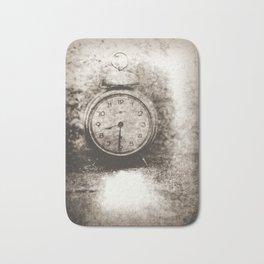 Old photo of the alarm clock Bath Mat