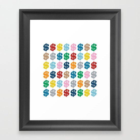 Colourful Money 48 Framed Art Print