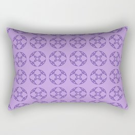Art Deco Vintage Stylized Flowers Pattern 1 Purple Rectangular Pillow