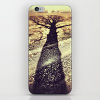shadow iPhone & iPod Skins featuring Shadow by Jessica Morelli