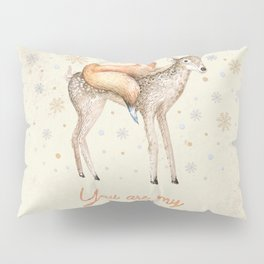 You are my adventure- fox and deer in winter- merry christmas Pillow Sham