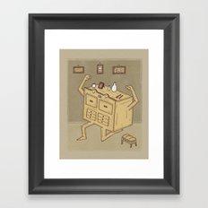 Chest of drawers Framed Art Print