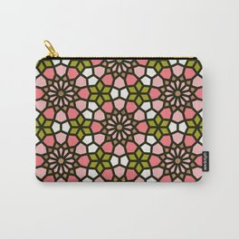 Persian Mosaic – Pink & Sage Palette Carry-All Pouch