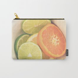 Citrus on White Carry-All Pouch