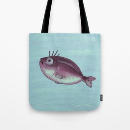 Funny Fish With Fancy Eyelashes Tote Bag