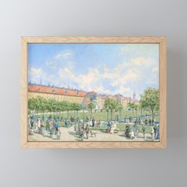 Franz Alt - The Heldenplatz in Vienna with a view of the Leopoldine wing of the Hofburg - Digital Remastered Framed Mini Art Print