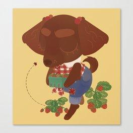Strawberry Picker Canvas Print