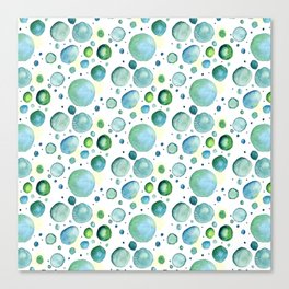Bubbles Watercolor Canvas Print