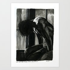 but what does it mean, really, forgetting? Art Print