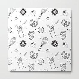 Modern Juice Pattern Metal Print