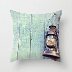 Blue Lantern  Throw Pillow