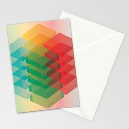 Color Cubes Stationery Cards