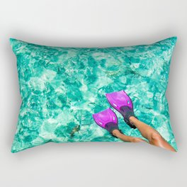 Vacation in the Maldives for the winter holidays Rectangular Pillow