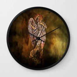 Angel in Awe Wall Clock
