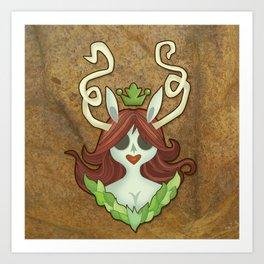 The Green Princess Art Print