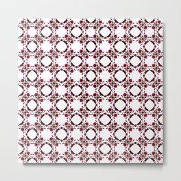 Interlinked Floral Repeat Pattern Metal Print