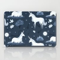 the last unicorn iPad Cases featuring The Last Unicorn by Sophie Eves