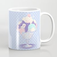 snorlax Mugs featuring Sweet Tooth Sundae by Miski