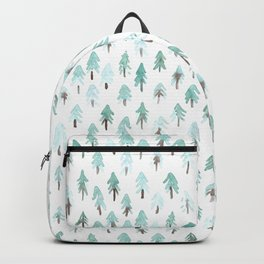 Light watercolor fir trees Backpack