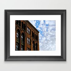 Corner of Main St. & Sky Framed Art Print