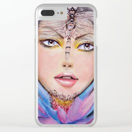 """""""Egyptian Lotus"""" Clear iPhone Case"""