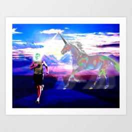 Unicorn Phaser Art Print