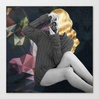 selfie Canvas Prints featuring Selfie by Cs025