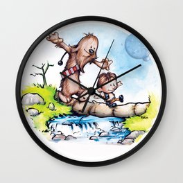 Calvin Solo and Hobbes-bacca Wall Clock